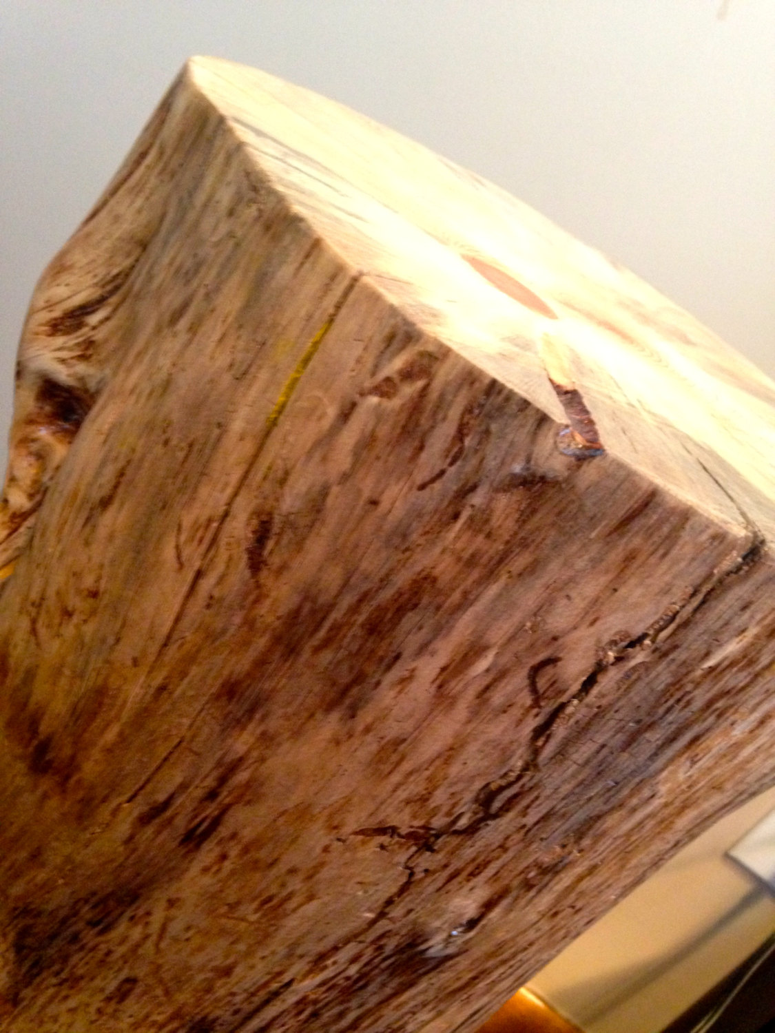 Tree Log Stump Side Table Handcrafted Wood Table From